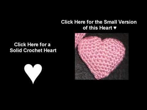 Crochet Valentine Puffy Heart - Medium - Written Instructions