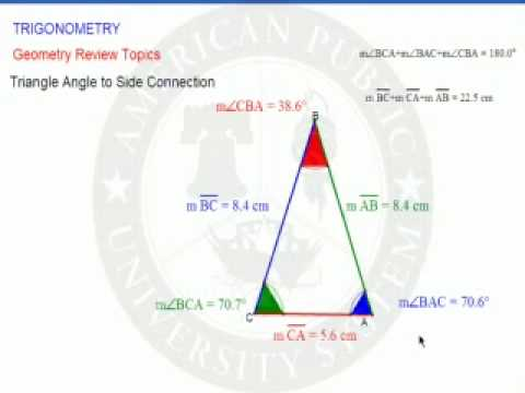 Triangle Angle to Side Connection
