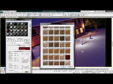 Autodesk Material Library — 3ds Max Design 2011 New Features