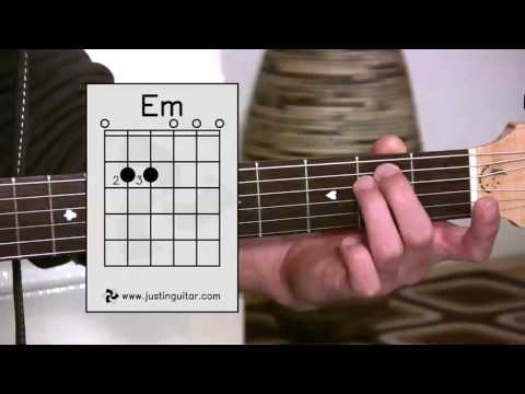 The Emin Chord (Guitar Lesson BC-122) Guitar for beginners Stage 2