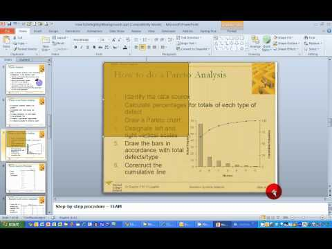 How To... De-highlight Slide Backgrounds in PowerPoint 2010