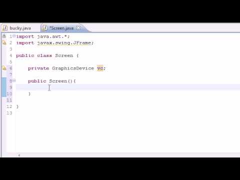 Java Game Development - 3 - Creating a Screen for Games