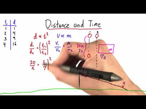 Distance and Time Solution  - Intro to Physics - Motion - Udacity