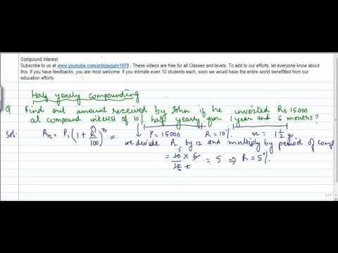 429.CBSE Class VIII, ICSE Class VIII - Mathematics- Compund Interest - Half yearly compounding