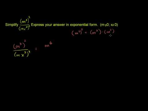Simplifying Expressions with Exponents 2