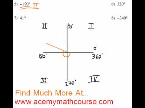 Trigonometry - Quadrants & Standard Position Angles (Part 2)