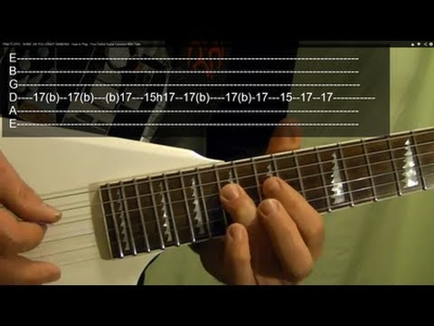 SHINE ON YOU CRAZY DIAMOND Intro Solo ( Guitar Lesson ) by PINK FLOYD With Tabs