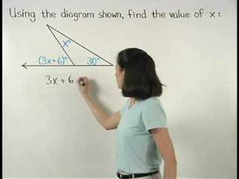 Exterior Angle Theorem - YourTeacher.com - Geometry Help