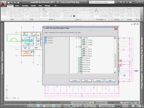 Creating Sections — AutoCAD Architecture 2011