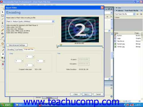 Flash Tutorial Importing Video Adobe Training Lesson 15.3