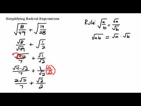 Simplifying a Radical Expression with Fractions