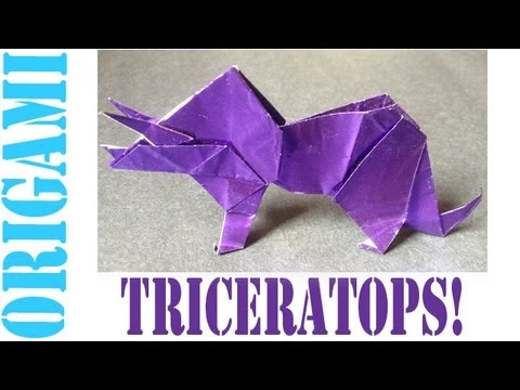 Origami Daily - 193: Triceratops - TCGames [HD]