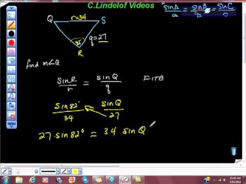 Geometry Law of Sines Arcsin INVERSE SINE