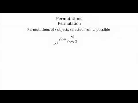 Probability -- Combinations and Permutations