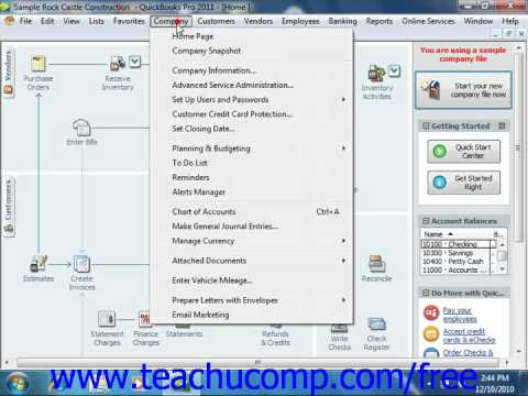 QuickBooks 2011 Tutorial Makin Journal Entries Intuit Training Lesson 25.5