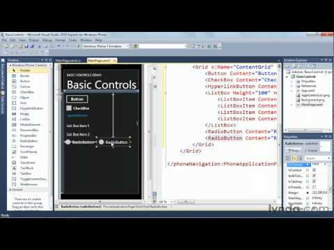 Adding controls to a Windows Phone 7 app | lynda.com tutorial