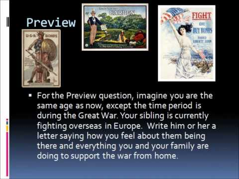 Unit III - The Effects of World War I on Americans at home