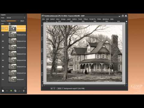 Make an old movie from a photo in GIMP - Animation tutorial