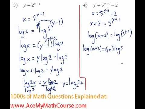 Exponents & Logs - Find the Inverse of Exponential Functions #4