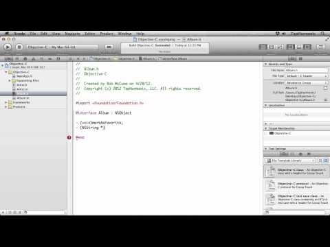 iOS Programming Tutorial | Declaring and Implementing Methods
