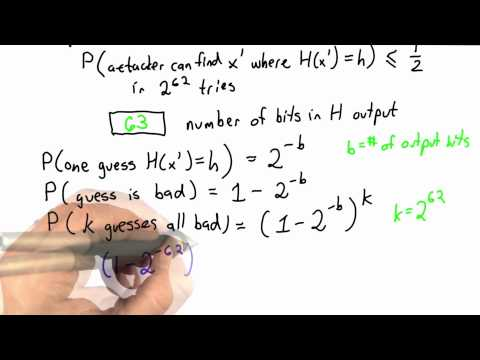 Weak Collision Resistance Solution - CS387 Unit 2 - Udacity