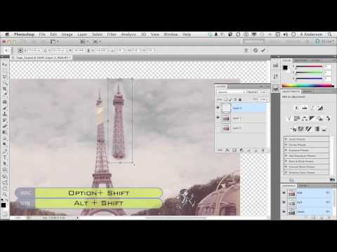 InfiniteSkills | Photo Restoration Using Multiple Images | Photoshop Tutorial