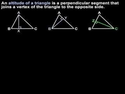 Altitude of a Triangle - YourTeacher.com - Geometry Help