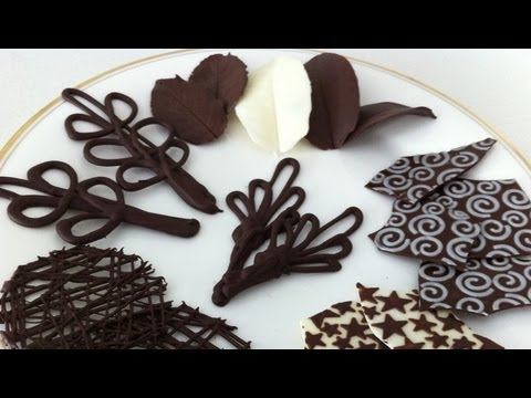 how to make chocolate garnishes decorations tutorial PART 2 - Ann Reardon - How To Cook That Ep022