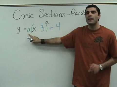 Algebra 2 - Conic Sections - Parabolas