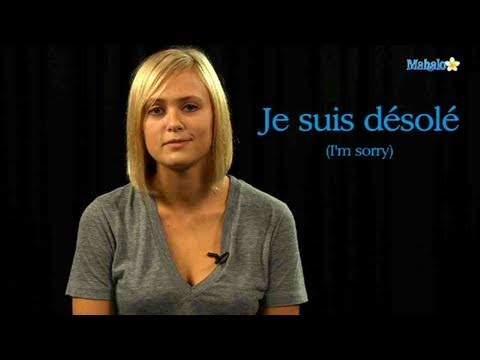 How to Say I'm Sorry in French