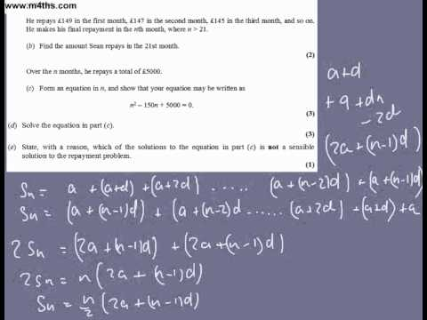 (Q9) Core 1 2005 Edexcel very quick answers