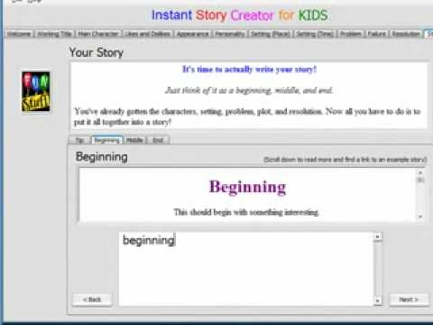 Writing Software for Kids