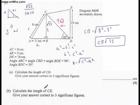 q25 Edexcel Linear Higher June 2011 calculator (quick worked example)