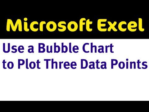 Making a Bubble Chart in Excel