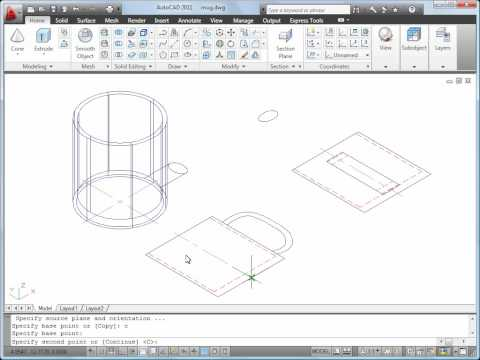 Convert 2D Objects to 3D Objects — AutoCAD 2011