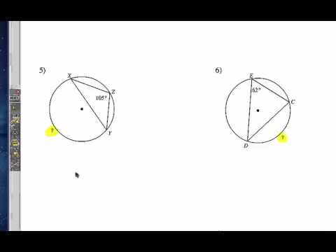How to Study Central and Inscribed Angles of a Circle: Problem Set 1