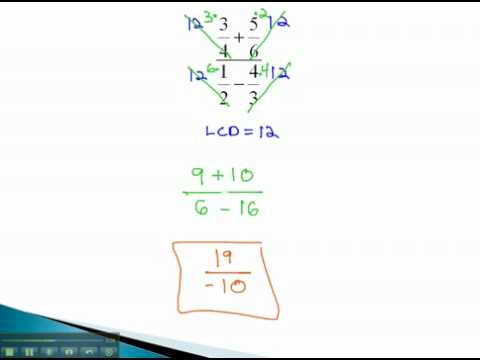 Compound Fractions - Numbers