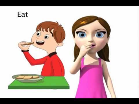Eat - ASL sign for Eat - animated
