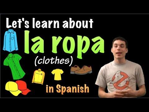 01038 Spanish Lesson - La ropa