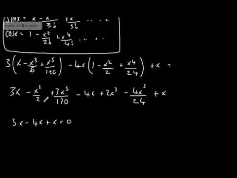 (5) FP2 Maclaurin Series (Basic example using cos(x) and sin(x))