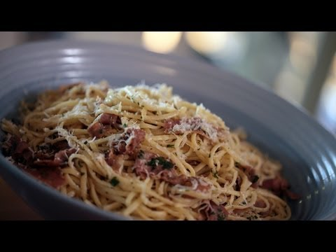 Linguine & Prosciutto w/ Brown Butter Sauce Pasta Recipe (How to Make It) || KIN EATS