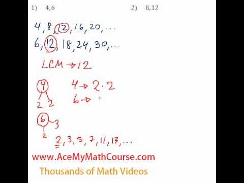 Basic Algebra Review - Least Common Multiple (LCM) #1-2