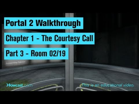 Portal 2 Walkthrough / Chapter 1 - Part 3: Room 02/19