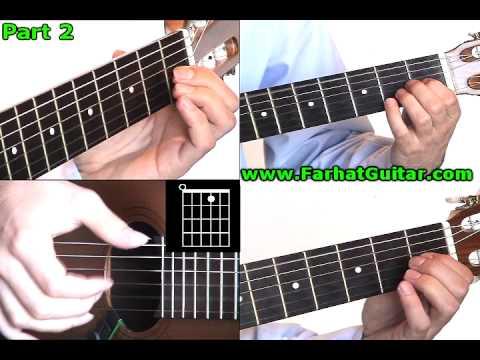 Tears in Heaven Eric Clapton 2 guitar lesson www.Farhatguitar.com