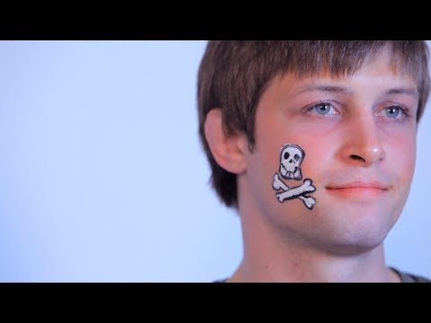 How to Do Face Painting: Cheek Skull
