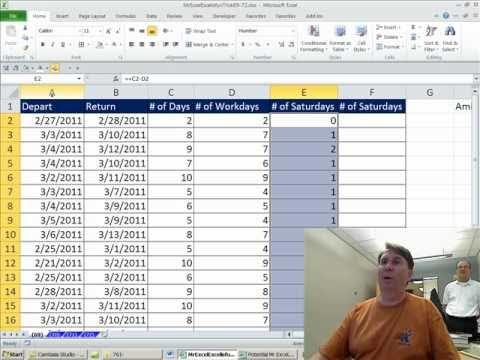 Mr Excel & excelisfun Trick 69: Count Saturdays