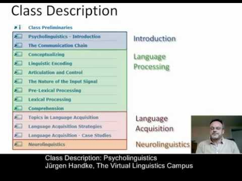 Class Description - Psycholinguistics