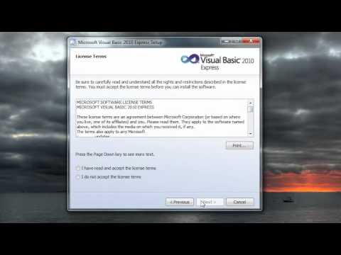 Visual Basic Tutorial - 2 - Installing The Visual Basic IDE