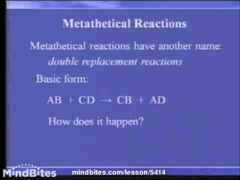 Chemistry Fundamentals: Reactions 3