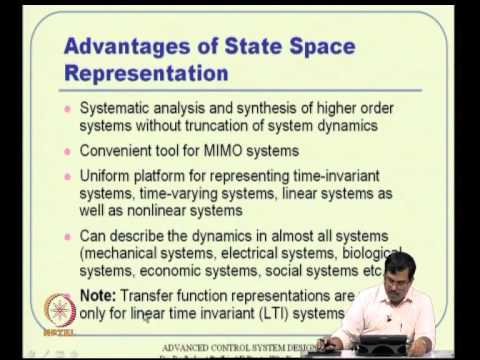 Mod-04 Lec-09 Representation of Dynamical Systems -- I